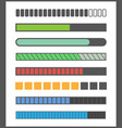 loading bar progress vector image vector image