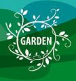 logo floral pattern garden vector image