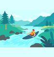 man kayaking vector image