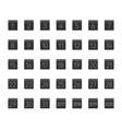month calendar glyph icons set vector image
