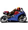 Motorbike racing motorsports vector image vector image