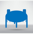 office icon table and chair vector image