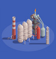 oil refinery plant composition vector image