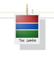 photo of the gambia flag vector image vector image