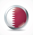 Qatar flag button vector image vector image