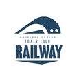 railway train logo original design modern vector image vector image