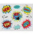 retro comic empty speech bubbles set on colorful vector image vector image