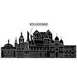 russia volgograd architecture urban skyline with vector image