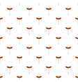 sausage on fork pattern seamless vector image vector image