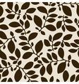 Seamless nature pattern with stylized leaves vector image vector image