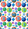 Seamless numbers in round bubbles vector image