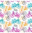 Seamless pattern bike vector image