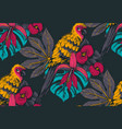 seamless pattern with compositions hand vector image vector image