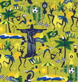 Seamless pattern with traditional Brazilian items vector image vector image