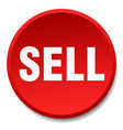 sell red round flat isolated push button vector image vector image