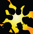 seniors silhouette vector image