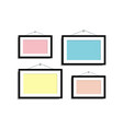set empty frames for photos or pictures hanging on vector image vector image