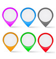 set multi-colored map markers vector image vector image