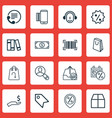 set of 16 e-commerce icons includes discount vector image vector image