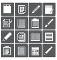 Set of paper documents and pencils icons vector image vector image
