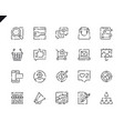 simple set marketing line icons for website vector image vector image