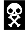 skull icon black background vector image vector image