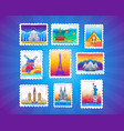 stamps - line travel vector image