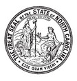 the great seal of the state of north carolina vector image vector image