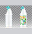 toilet cleaner bottle packaging mockup set vector image vector image