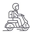 travel scooter line icon sign vector image