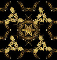 vintage seamless pattern on a colors with golden vector image vector image
