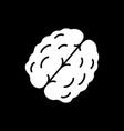 walnut dark mode glyph icon vector image vector image