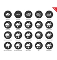 Weather icons on white background vector image vector image