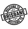 welcome to brisbane black stamp vector image vector image