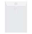 White sealed envelope vector image vector image