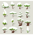 Winter Snowbound Trees Collection vector image vector image