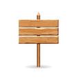 wooden arrow signs board set wood vector image vector image