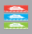 colorful horizontal banners with square motive vector image