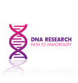 dna chain gene research logo element icon vector image