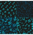 Musical Notes Seamless Patterns vector image