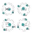 Set Ecology and Environment Business icons vector image