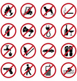 Prohibited icons set vector image