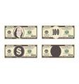100 dollars banknote vector image vector image