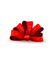a gift bow vector image vector image