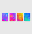 abstract gradient flowing geometric pattern vector image vector image