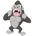 Angry gorilla cartoon character vector image