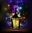 Arabic forging lantern for Ramadan Kareem vector image vector image