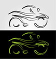 Artistic graphic of motorbike vector image vector image