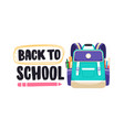 back to school lettering composition vector image vector image
