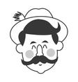 bavarian man icon vector image
